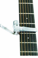 capo on the guitar neck